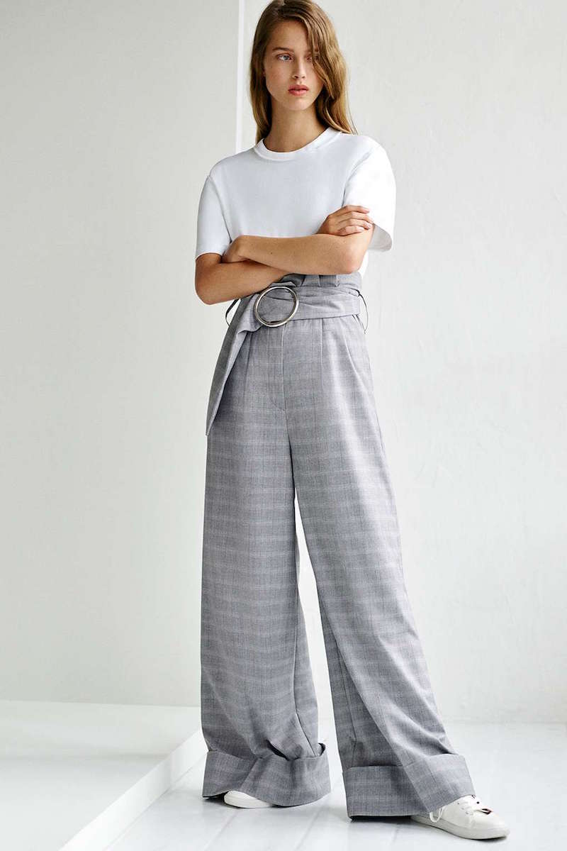 Topshop Boutique Tailored Wide Leg Trouser