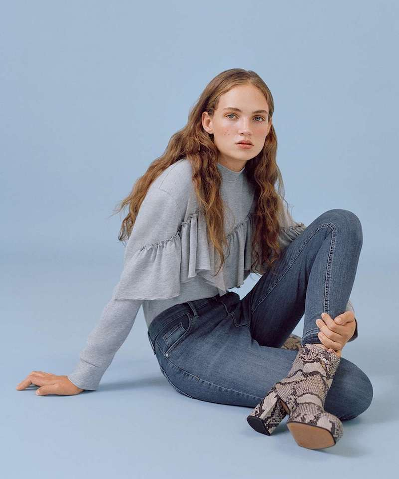Topshop MOTO Let Hem Blue Jamie Jeans