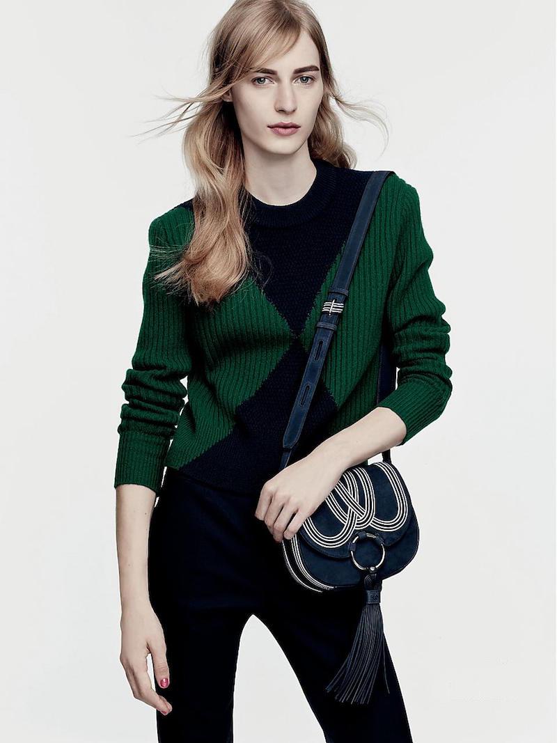 Tory Burch Poppy Colorblock Sweater