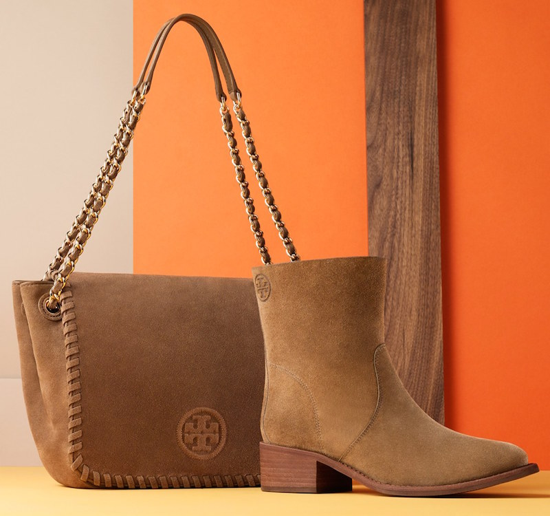 Tory Burch Small Marion Suede Shoulder Bag