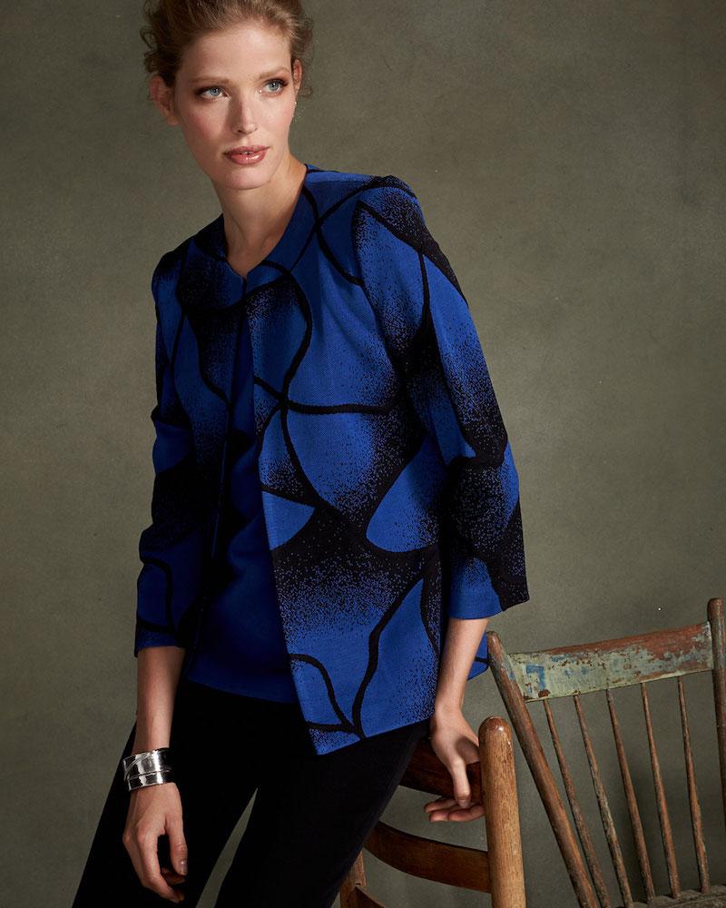 Toula Ribbed Bracelet-Sleeve Jacket