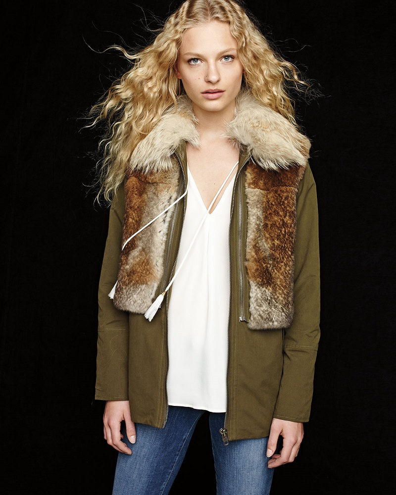 Trilogy Collections by Michael McCollom Twill Fur Trim Jacket