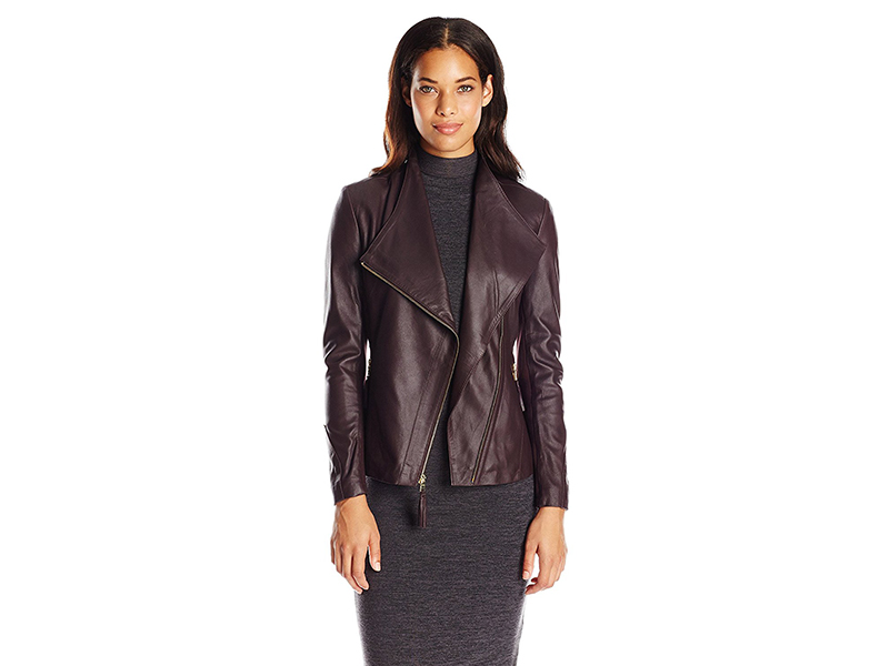 Via Spiga Real Lightweight Leather and Ponte Jacket