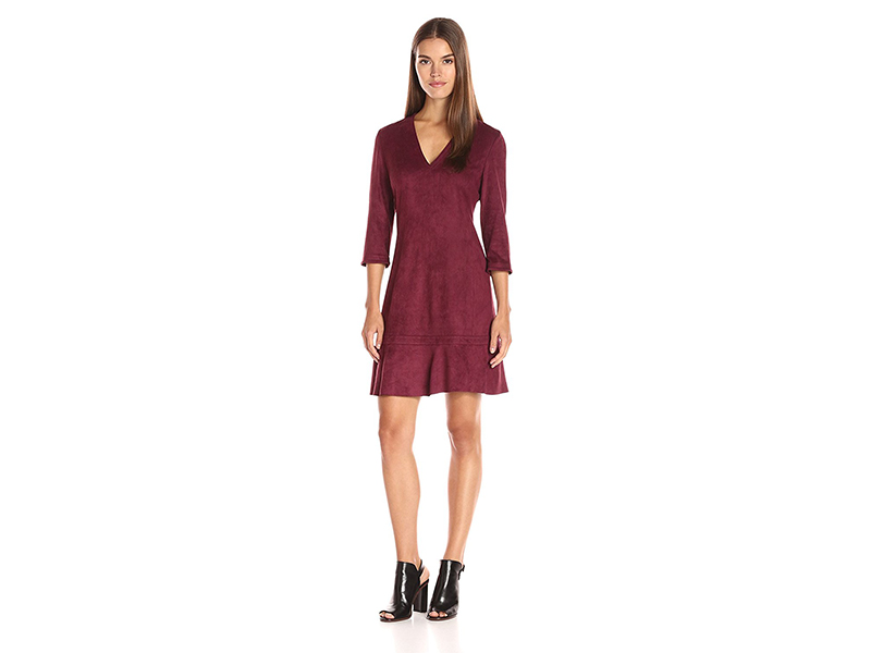 Yoana Baraschi California Dreaming Suede Tunic Dress