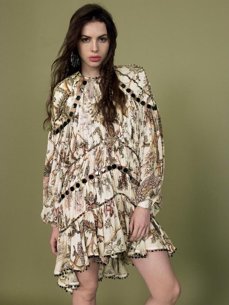 Zimmermann Karmic Aura Mirror Silk Mini Dress