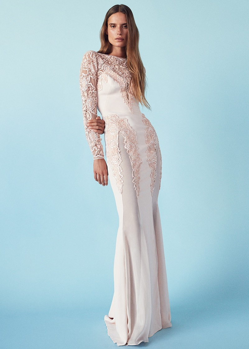 Zuhair Murad Embroidered Long Fitted Dress