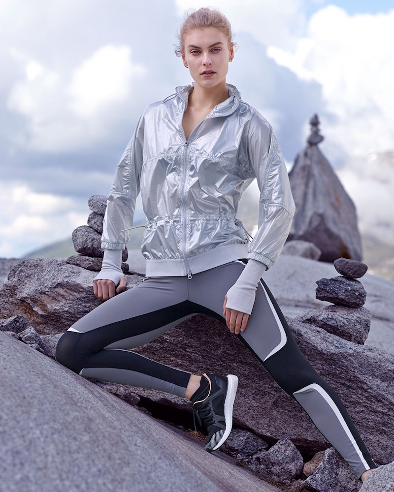 adidas By Stella McCartney Run Metallic Performance Jacket