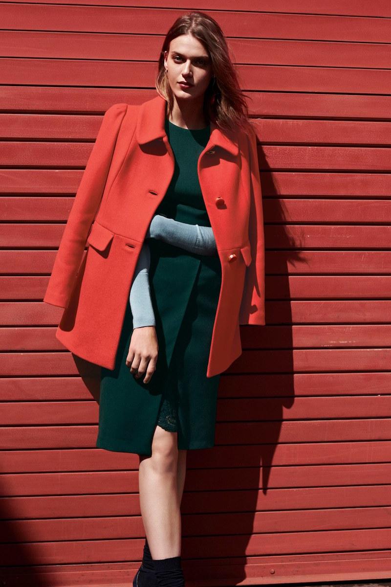 kate spade new york wool blend a line coat