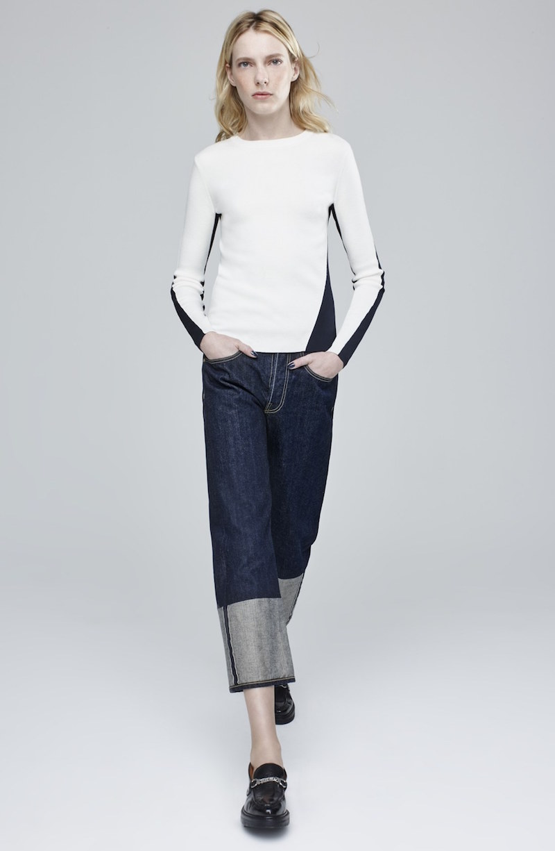 rag & bone Cecilee Merino Wool Blend Colorblock Sweater