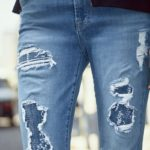 7 For All Mankind Embellished & Destroyed Ankle Skinny Jeans