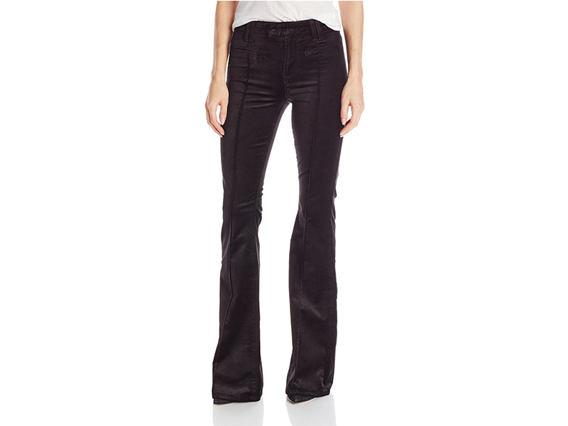 7 For All Mankind The Pintuck Trouser In Black Velvet