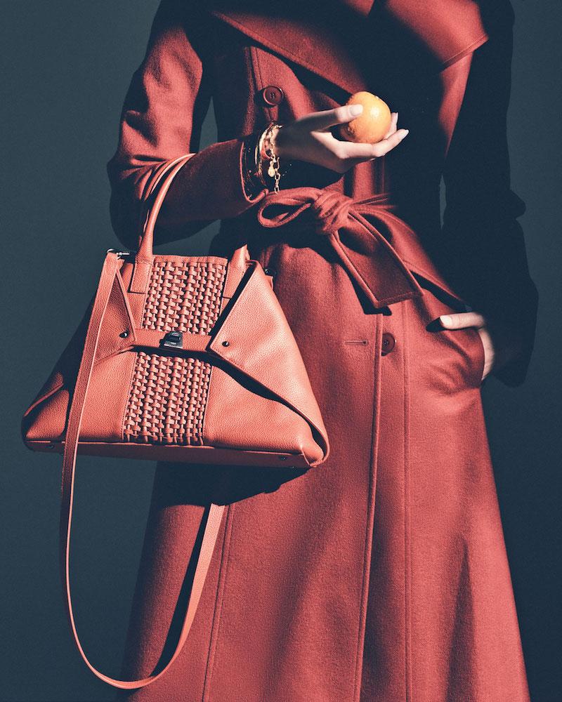 Akris Ai Small Woven Shoulder Bag