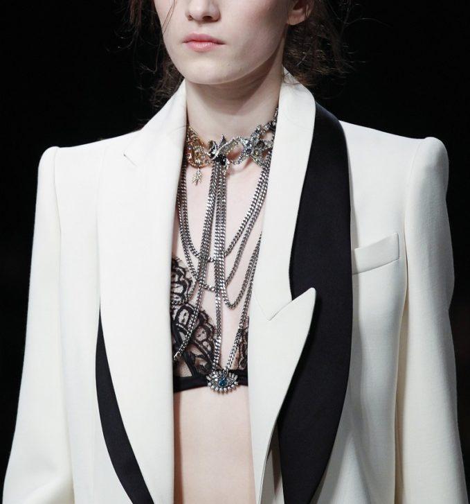 Alexander McQueen Asymmetric-Lapel One-Button Long Coat-