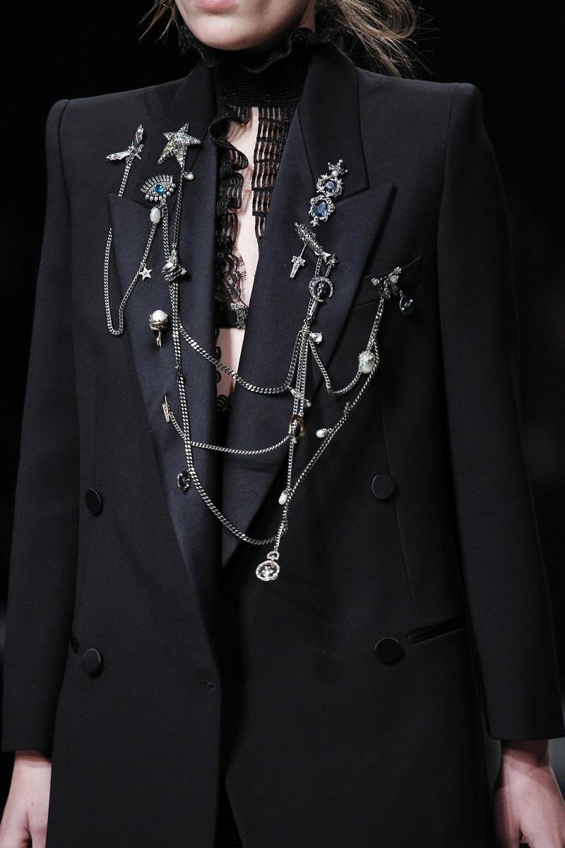 Alexander McQueen Double Chain-Embellished Tuxedo Jacket-