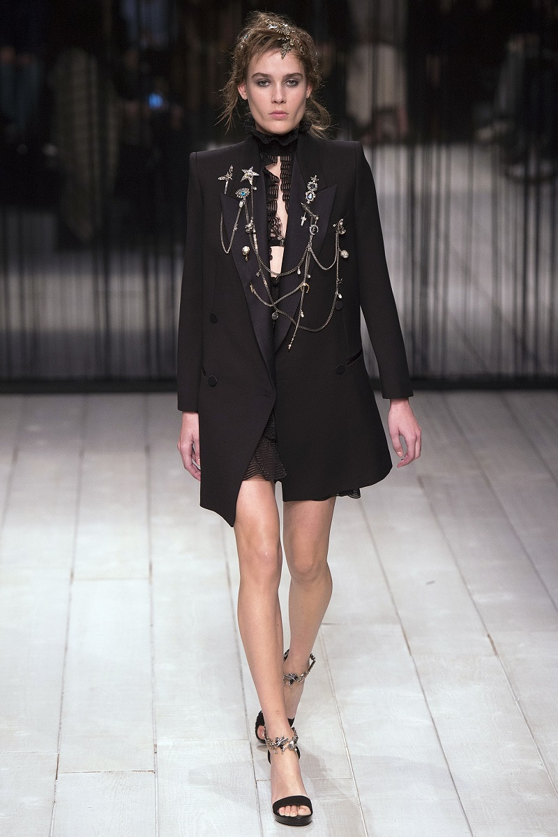 Alexander McQueen Double Chain-Embellished Tuxedo Jacket--