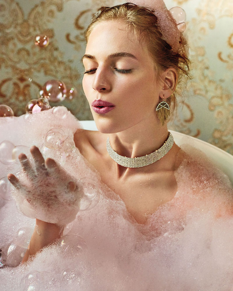 Alexis Bittar Coveteur Series 2 Crystal Choker Necklace