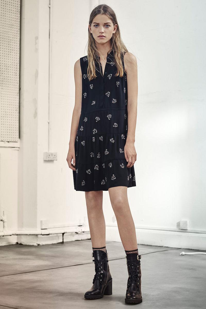 AllSaints Anouk Embellished Lin Dress