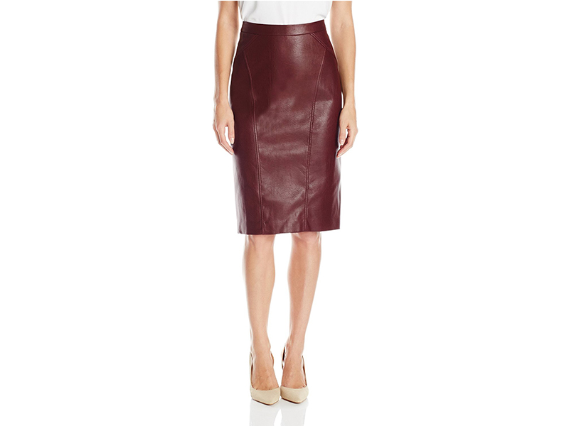 BCBGMAXAZRIA Natilie FX Leather Skirt