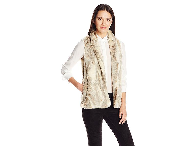 BCBGeneration Shell Collar Faux Fur Vest