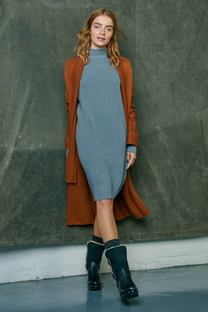 BP. Mock Neck Knit Sweater Dress