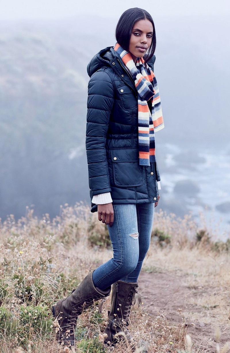 Barbour Circlip Water Resistant Quilted Coat