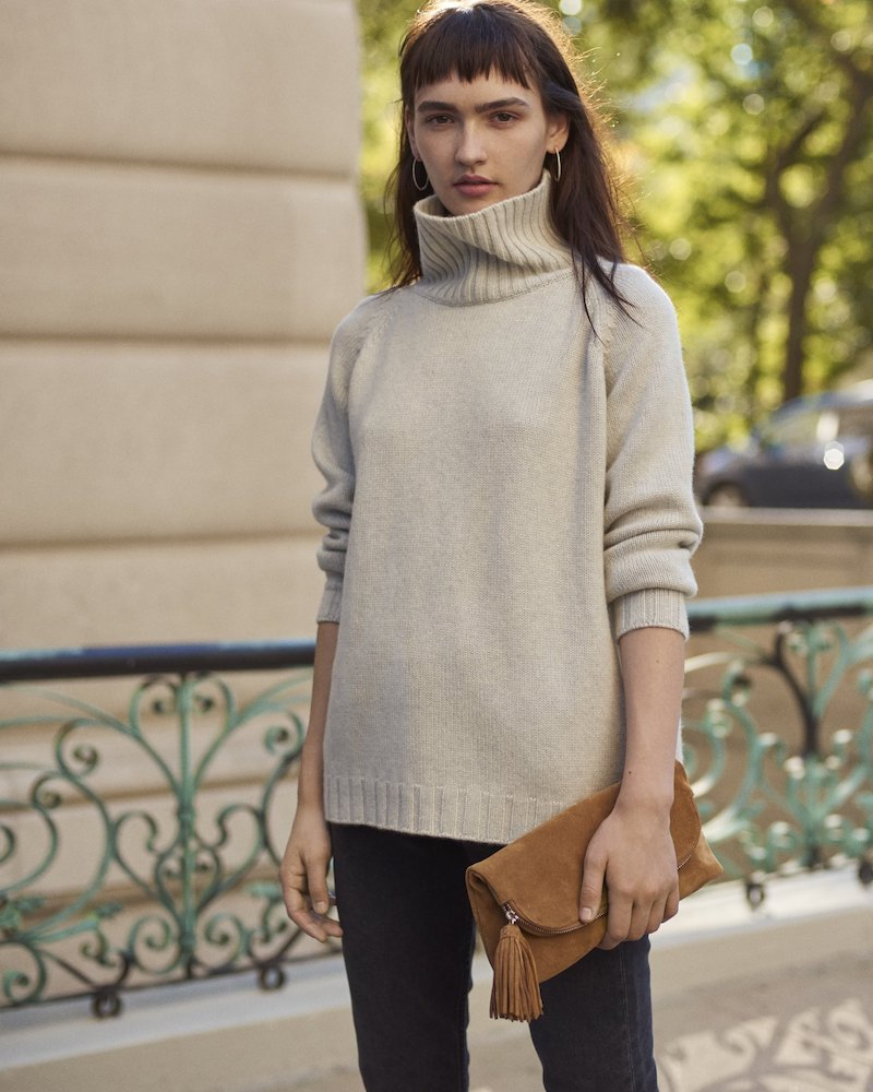 Barneys New York Cashmere Turtleneck Sweater