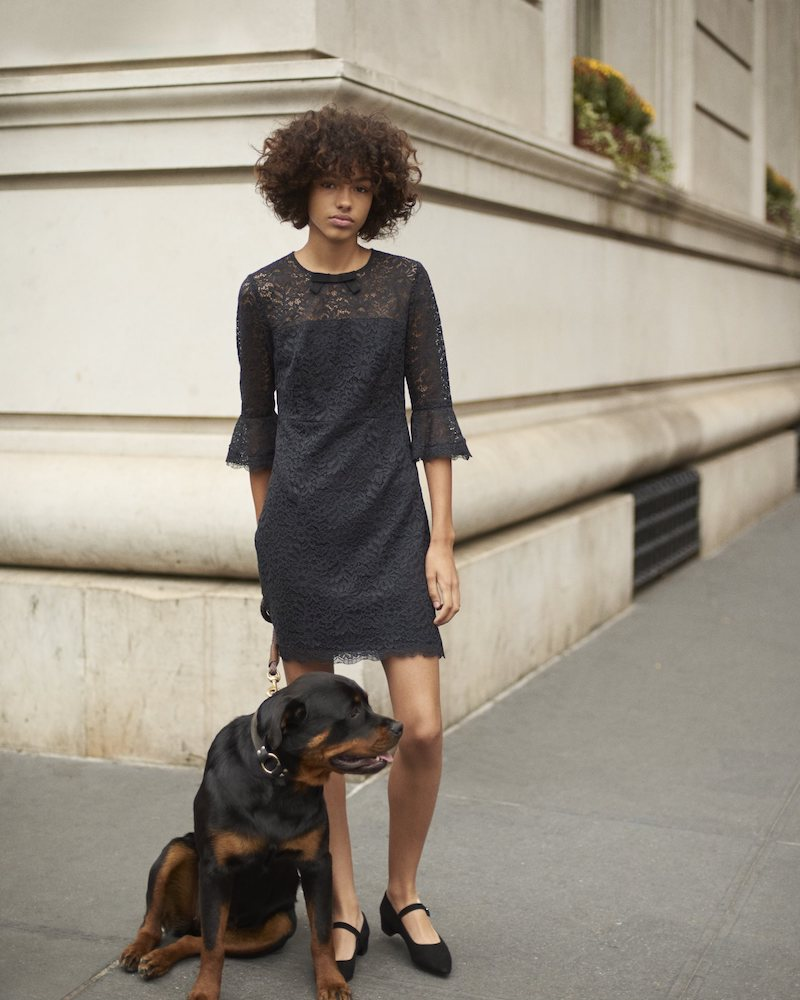 Barneys New York Corded Lace Sheath Dress