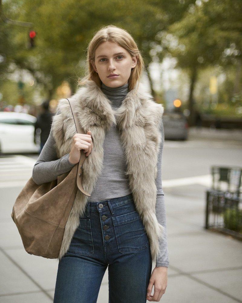 Barneys New York Fur Vest