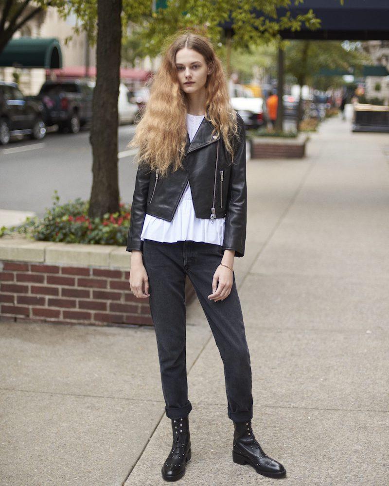 Barneys New York XO Jennifer Meyer Crop Moto Jacket