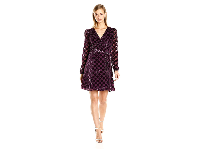 Betsey Johnson Dot Velvet Burnout Dress