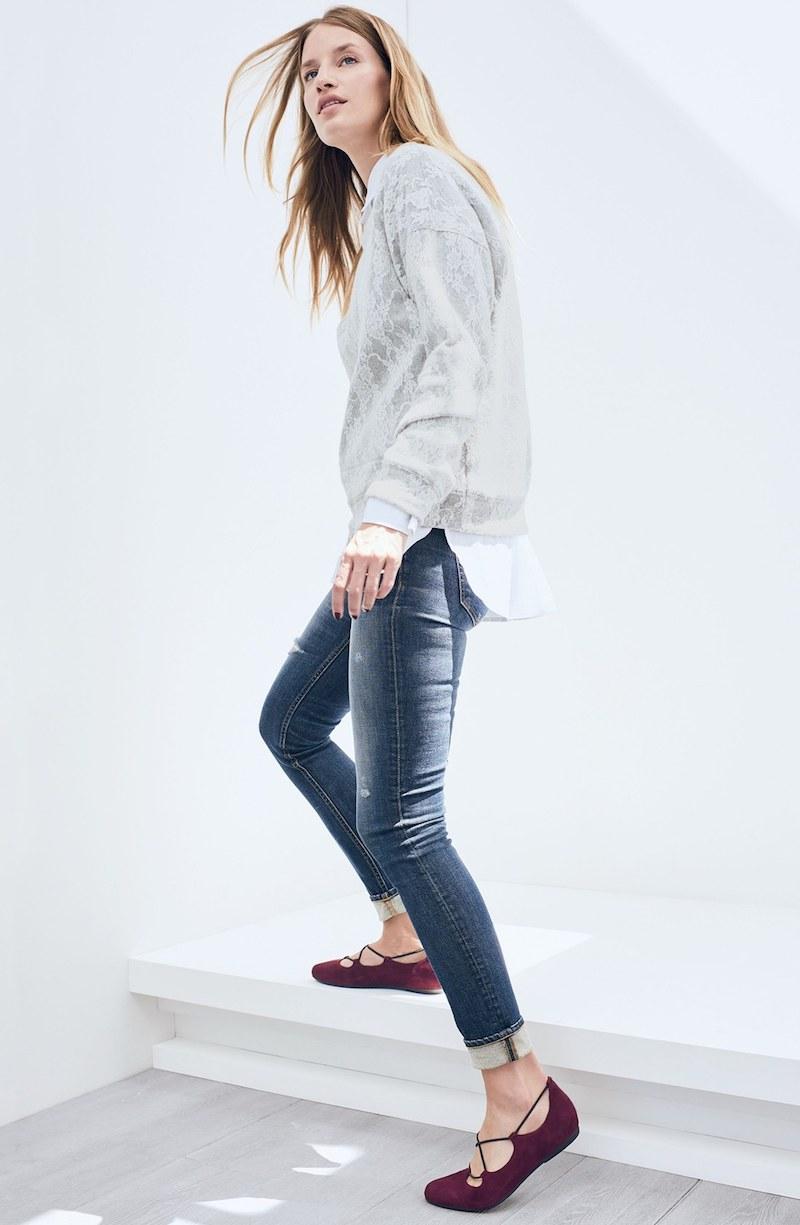 Bobeau Lace Sweatshirt