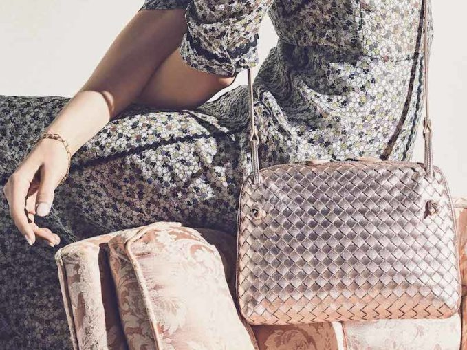 Bottega Veneta Small Intrecciato Grosgrain Crossbody Bag