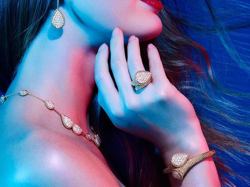 Boucheron Serpent Bohème 18ct Yellow-Gold and Diamond Ring