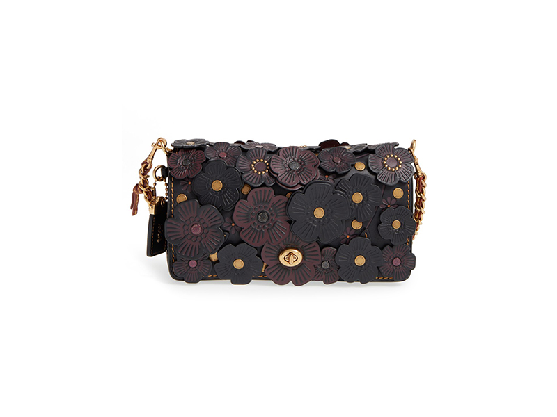 COACH 1941 Dinky Flower Appliqué Leather Crossbody Bag