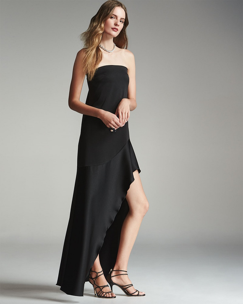 Camilla & Marc Off-the-Shoulder Satin & Crepe Mermaid Gown