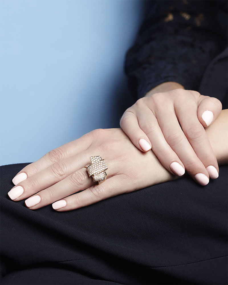 Carelle 18K Rose Gold & Pavé Diamond Knot Ring