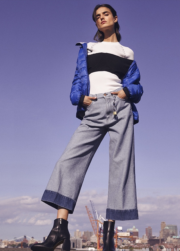 Cedric Charlier Cropped Wide Leg Jeans