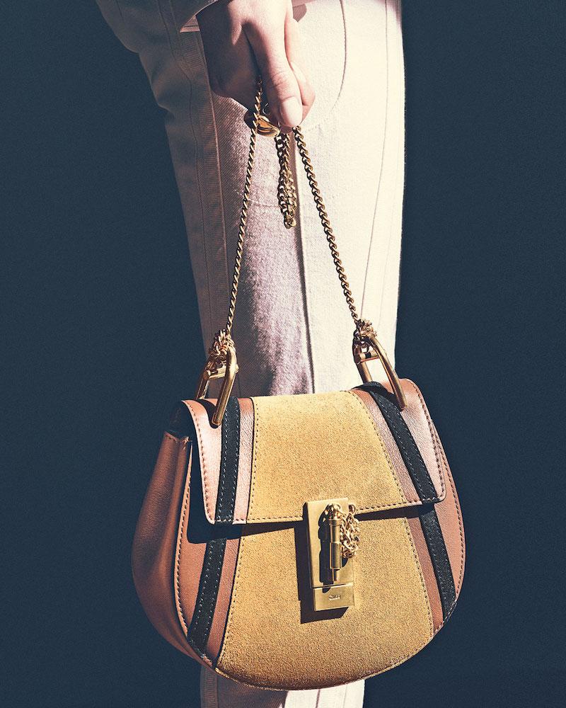 Chloé Drew Mini Patchwork Shoulder Bag