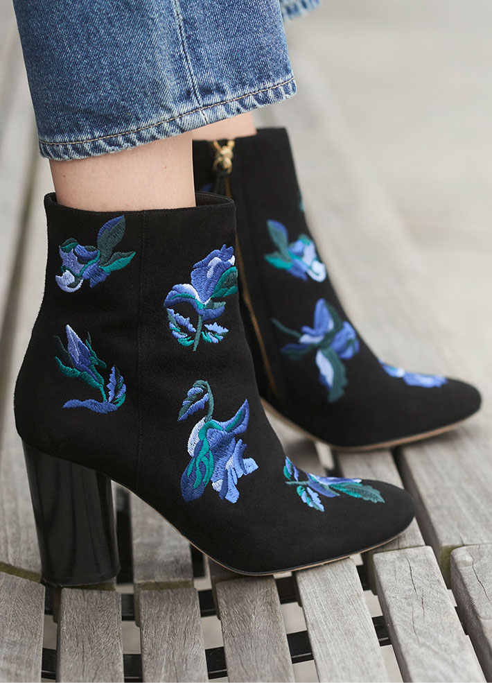 Club Monaco Anisa Embroidered Bootie