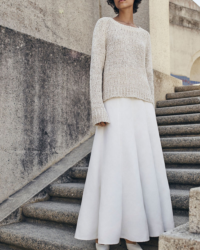 Co. Raglan Crochet Tunic Sweater
