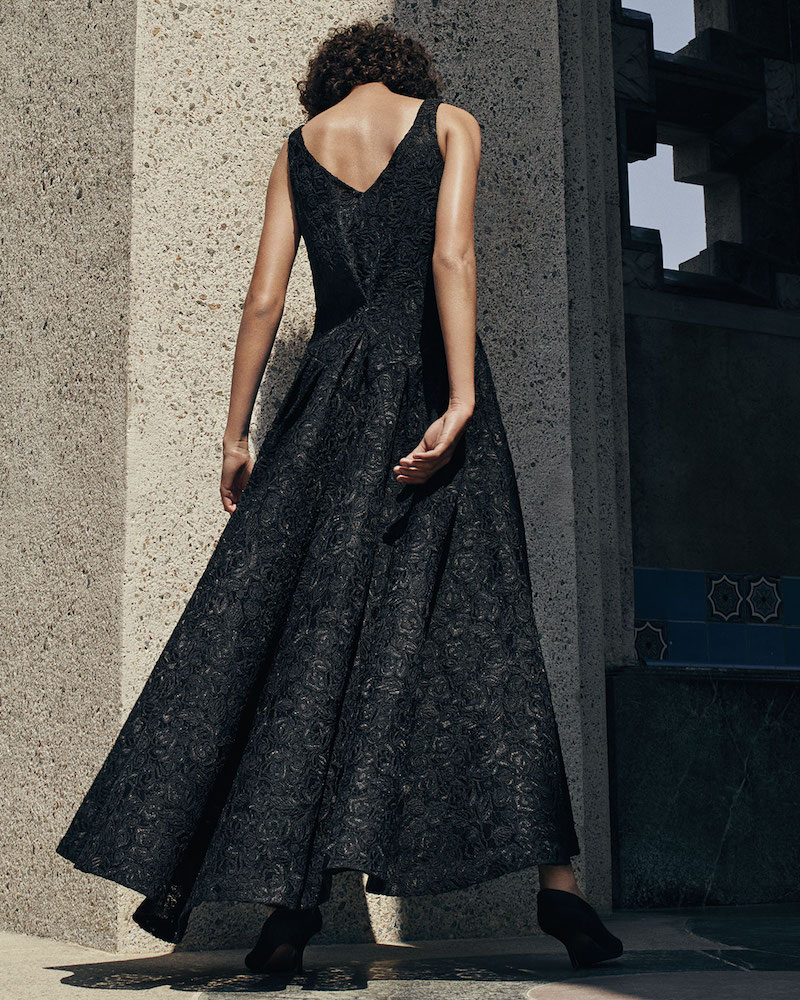 Co. Sleeveless V-Neck Corded Lace Gown