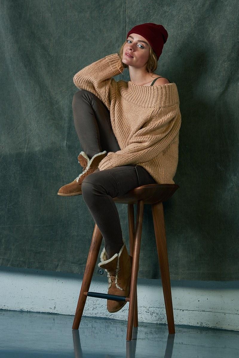 Cotton Emporium Off the Shoulder Knit Pullover