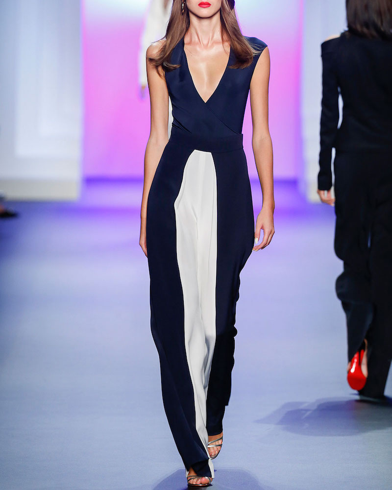 Cushnie Et Ochs Colorblock High-Waist Pants