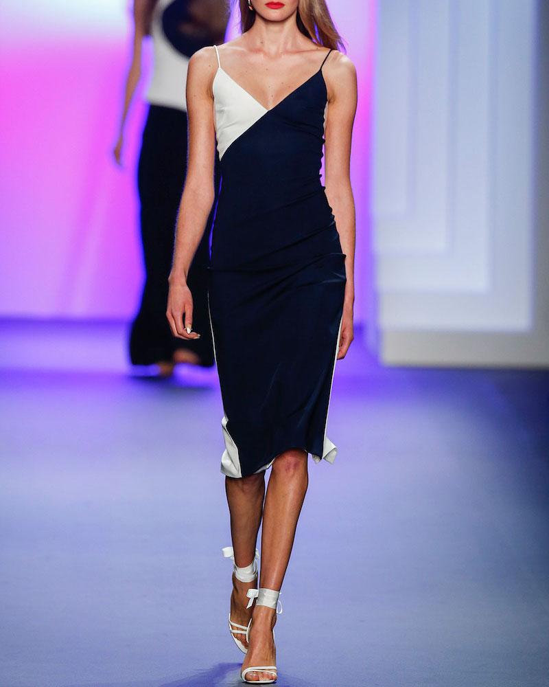 Cushnie Et Ochs Colorblock Sleeveless V-Neck Dress