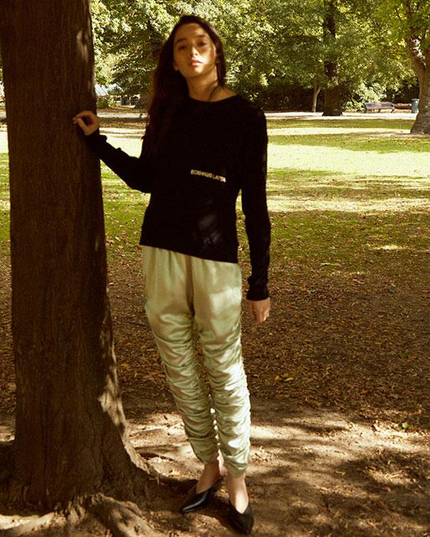 Eckhaus Latta Lapped Branded Sweater