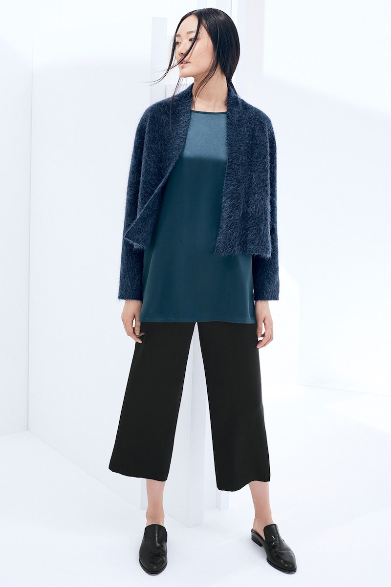 Eileen Fisher Plush Crop Cardigan