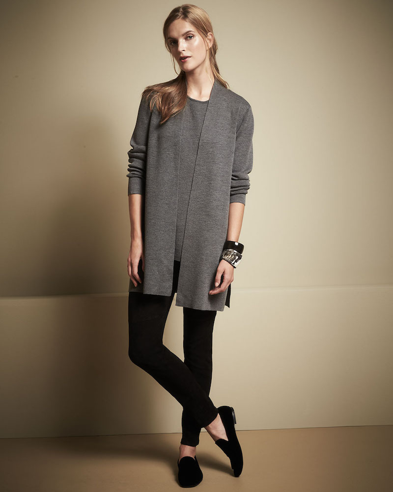 Eileen Fisher Washable Straight Long Cardigan