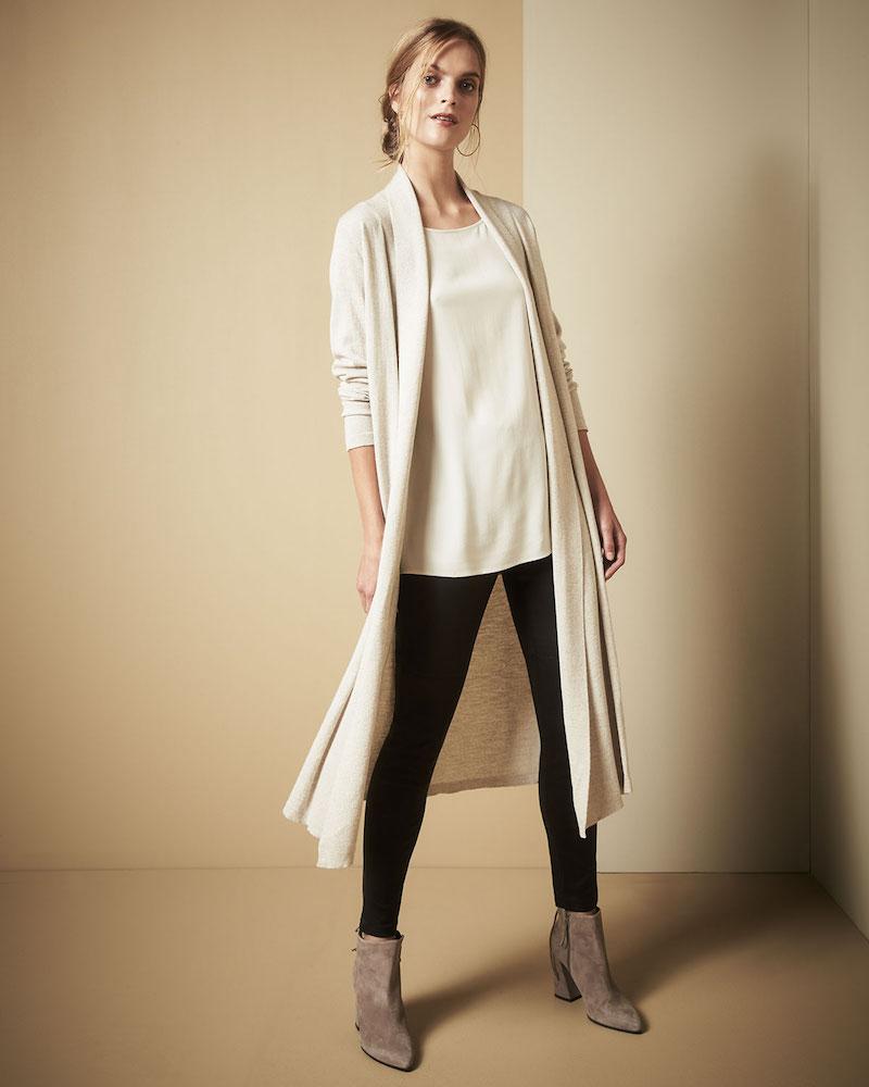 Eileen Fisher Washable Wool Kimono Duster Cardigan