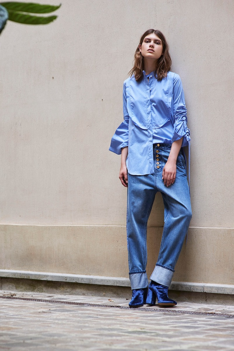 Ellery Melodrama Ruched Cotton Shirt