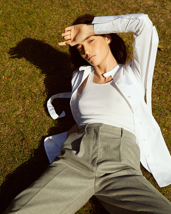 Ellery Melodrama Ruched Drawstring Shirt